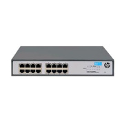 HP OfficeConnect 1420 16G Unmanaged Ethernet Switch, 16 Port RJ-45 GbE, Lifetime Warranty