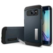 Spigen Galaxy S6 Edge Slim Armor Case Metal Slate KICK-STAND Edgy Protection Air Cushion Technology
