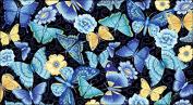Toland Home Garden Blue Butterfly 50cm x 100cm Decorative USA-Produced Anti-Fatigue Soft-Step Kitchen/Bathroom/Standing Desk Comfort Designer Mat