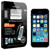 Spigen iPhone SE/5S/5 /5C Premium Tempered Glass Screen Protector Super Slim (0.33mm),8-9H Surface