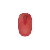 MICROSOFT 1850 Mouse - Wireless - FLAME RED - USB - Scroll Wheel - Symmetrical
