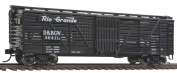 HO Scale 12m Stock Car w/Dreadnaught Ends - Ready to Run -- Denver & Rio Grande Western #36411