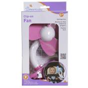 DreamBaby L279 - Stroller Fan - White Pink
