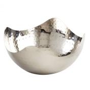 Elegance Hammered 20cm Stainless Steel Wave Serving Bowl