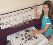 Plastic Music Note & Music Symbol Teaching Set