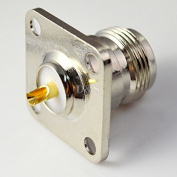 N Type Female with 4 Holes Flange Mount 25mm Solder RF Coaxial Connector Adapter