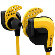 """Fit Acoustics Elevate Wireless Bluetooth Headphones. Patented """"Stays In Your Ears"""" Technology. Noise cancelling with microphone and come in Amazon Orange. Best Sport Workout Earbuds. New 2015 Model."""