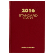 At-A-Glance 15cm x 21cm Standard Diary Reminder for 2016, Red