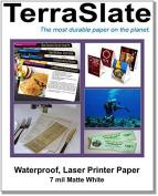 100 Sheets of 7 Mil TerraSlate Paper 22cm x 28cm Waterproof Laser Printer/Copy Paper