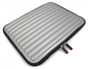 DURAGADGET Lightweight, Shock & Water-Resistant Memory Foam Laptop Case / Sleeve in Silver for Dell XPS 12 & Dell XPS Duo 12