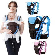 Denshine Blue Newborn Infant Baby Carrier Breathable Ergonomic Adjustable Wrap Sling Child Safety Comfort Backpack