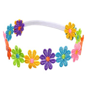 Sanwood Cute Baby Children Girl Colourful Flowers Hair Band Headband