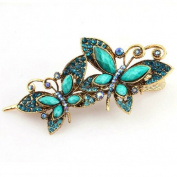 Gleader Lovely Vintage Jewellery Crystal Butterfly bowknot Hairpins Hair stick - for hair Beauty Tools