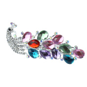Gleader Lovely Vintage Jewellery Crystal Peacock Hair Clips - for hair clip Beauty Tools Multicolor