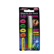 1 x Neon Yellow Glow In The Dark Lip Gloss Stick Festival Christmas New Year Party Bag