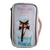 Fashion Waterproof Travel Makeup Case Cosmetic Bag Sundry/Toiletry, Pink Hat