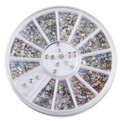 Sanwood Colourful Acrylic Nail Art Stickers Tips Glitter Rhinestone Nail Decorations