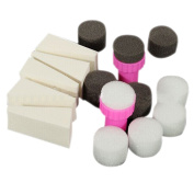 Sanwood 1 Set Nail Art Sponge Stamp Stamper Shade Transfer Template Polish Manicure Tool