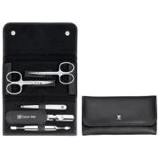 Zwilling J.A. Henckels Twin Classic manicure kit, snap fastener case, neat's leather, black, 5 pcs. # 97458-004