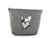 French Bulldog, grey bag, Shoulder bag with dog, Handbag, Pouch, High quality, Pet Lover, Purse, For Ladies, Women, Tote bag
