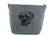 English Mastiff, grey bag, Shoulder bag with dog, Handbag, Pouch, High quality, Pet Lover, Purse, For Ladies, Women, Tote bag