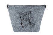 Chinese Crested Dog, grey bag, Shoulder bag with dog, Handbag, Pouch, High quality, Pet Lover, Purse, For Ladies, Women, Tote bag