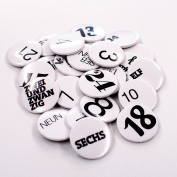 What about Tea - 24 Advent Calendar Buttonset-Black / White