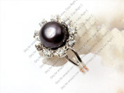 Sweet & Happy Girl'S Store White Pearl Heart Shape Silver Plated Ring Adjustable Size