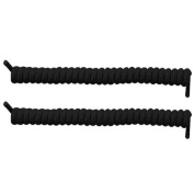 Spring Coiler Self Tying Shoelaces - Black x 10