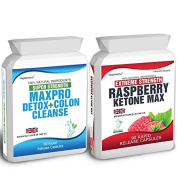 Body Smart Herbals - 90 Raspberry Ketone Plus 30 Colon Cleanse Weight Loss Slimming Diet Pills Max Raspberry Max 1500mg Daily + Super Strength Max Pro