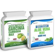 Body Smart Herbals - 90 Garcinia Cambogia & 60 Aloe Vera Colon Cleanse Weight Loss Diet Capsules