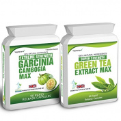 Body Smart Herbals - 90 Garcinia Cambogia & Green Tea Extract Diet Weight Loss Fat Burner Pills