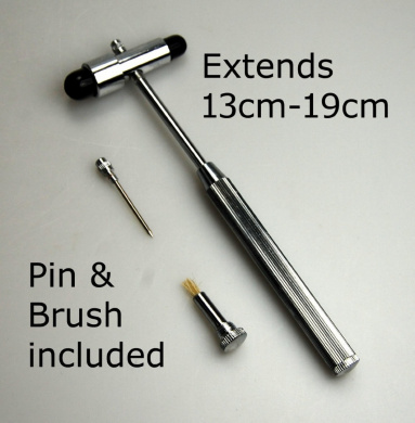 Valuemed Buck neurological reflex hammer extends 13-19cm handle