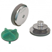 Watco Manufacturing 901-Pf-Abs-Cp 3.8cm Schedule 40 Abs Piping Innovator Presflo Bath Waste Half Kit, Chrome Plated
