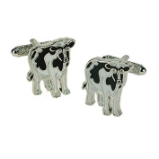 Onyx-Art London Novelty Cufflinks - Cow Black & White
