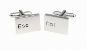 MFYS Novelty Computer Ctrl Esc Keyboard Cufflinks with a Gift Box