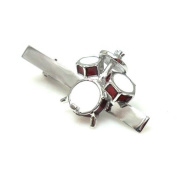 Drum Set Drummer Gift Band Rock N Roll Music Tie Clip Silver Wedding Bar Clasp