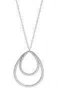 Pernille Corydon-Long Necklace Double Drop Silber