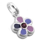 Flower Pendant in Purple 925 Silver