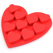 10 Heart Shaped Valentine Love Silicone Mould