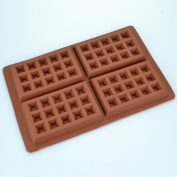 Four Waffle Shapes Silicone Mould
