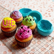 One Set 3Pcs Cupcake Mould 3D Silicone Flexible Mould Whipped Cream 25mm Deco Kawaii Miniature Sweets Mould