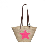 Emma Sequin Star Basket with long leather handles