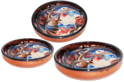 Handmade Round Ceramic Serving / Salad / Pasta Bowl x 3
