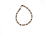 Momma Goose Hazelwood Infant Necklace - Small - Brown & Cream