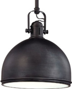 Hudson Valley Lighting Marion 1-Light Pendant - Old Bronze Finish with Old Bronze Metal Shade