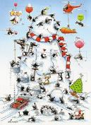 Advent Calendar (MED0687) - Eric The Penguin - Building A Large Snowman