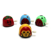 HuntGold Lovely Beetle Shape Children's Somersault Running Wind Up Toy Clockwork Random