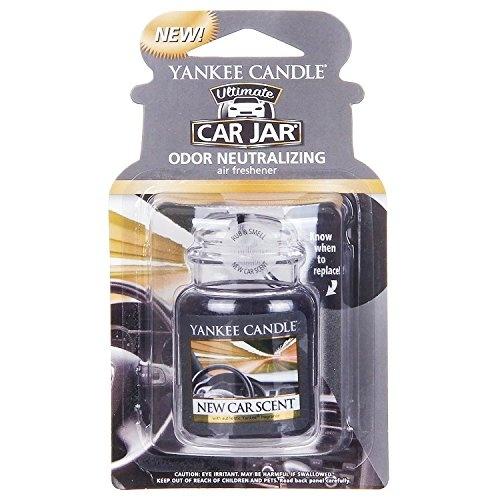 Yankee Candle Gel Car Jar Ultimate Hanging Odour Neutralising Air  Freshener, New Car