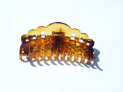 Extra Large Size Claw Clip Updo Ponytail Hair Holder Large Hair Clamps French Roll Hair Clips (Transparent Lucite Tort Brown fancy- THO276) 13cm